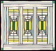 Quilts in the tradition of Frank Lloyd Wright