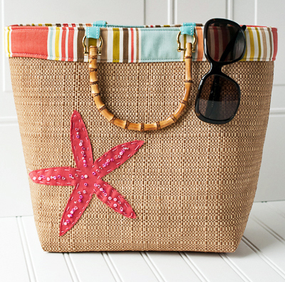 How to Make a Beach-Bound Straw Tote | WeAllSew