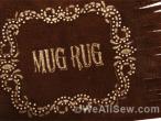 western mug rug by Amanda whitlatch #bernina #sew #paint #cutwork #fringe #cowboy #mug rug #software #embroidery machine #weallsew