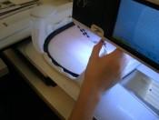 CutWork on embroidery machine.