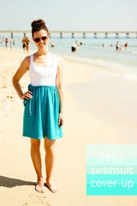 13dbcf548238b Sarah from The Winthrop Chronicles gives you step-by-step instructions for  sewing up this comfy diy swimsuit cover up.