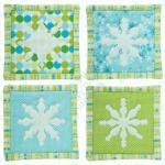 snowflake coasters - amanda murphy - modern holiday