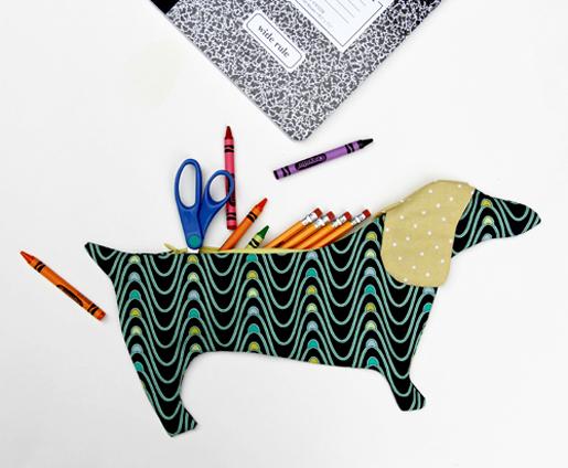 DIY Dachshund Pencil Pouch