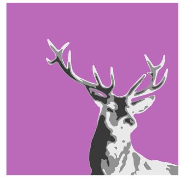 deer quilt posterized