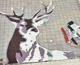 Deer Quilt by Luke Haynes Sew-Along Week Two #quilt #diy #deer #stag #sew-along #quilt-along #applique #weallsew