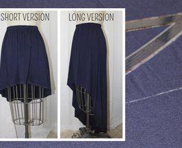 High-Low Skirt by Mimi G for WeAllSew #diy #bernina #tutorial #free project #skirt #fashion #sew #elastic waist #knit skirt #uneven hemline