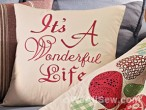 It's a Wonderful Life Pillow #bernina #sew #embroidery #software #weallsew #free project #free tutorial