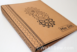 Urban Doodles Steampunk Notebook Cover And Pencil Case By