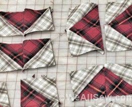 half-square triangles, quilt, patchwork, block, square, piecing, strip-piece, dutchmans puzzle