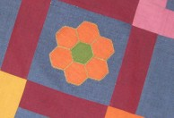 mary beck - grandmothers flower garden - one block - angled