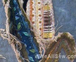 Raggy Applique Corn Pillow by Miriam Rawson #applique #home decor #pillow #fall #autumn #harvest #corn #felt