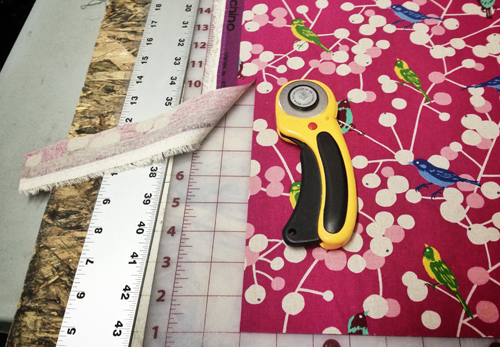 rotary cutter and ruler