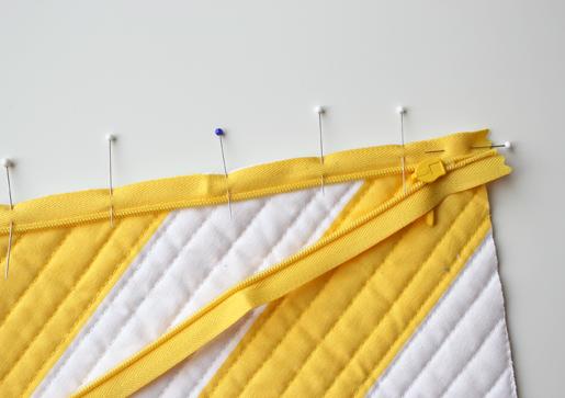 stitch zipper tape