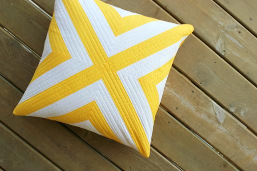DIY Geometric Pillow