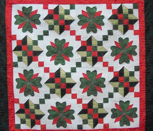 Christmas Quilt Patterns.Irish Christmas Quilt Free Pattern Weallsew