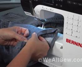 how to hem jeans #bernina #jeans hem #denim hem #how to hem jeans #tutorial #free tutorial #sewing denim #sewing jeans