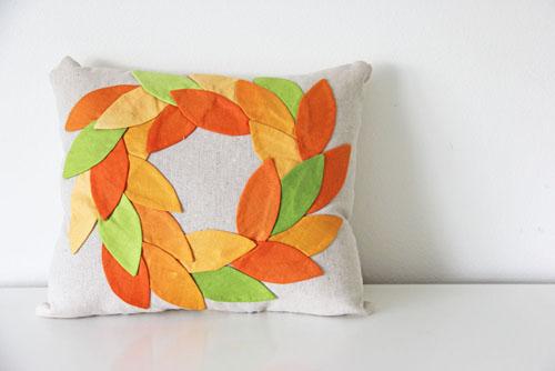 Diy Fall Wreath Pillow Weallsew
