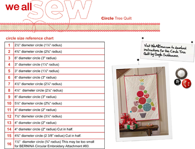 circle tree quilt layout guide and circle size chart 2 400px weallsew