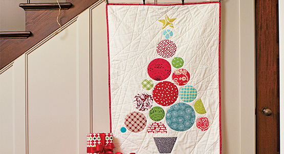 How to make a circle tree quilt