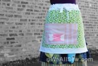 #bernina #weallsew #apron #patchwork apron #log cabin #log cabin patchwork apron #sew #quilt #piece #free project #free tutorial #erika mulvenna