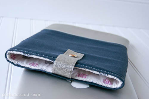 How to Make a Leather-Trimmed Laptop Case