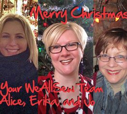 Merry Christmas from the WeAllSew team
