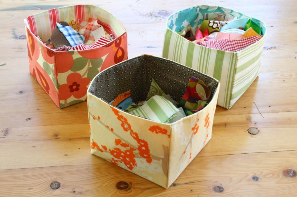 DIY Scrap Fabric Basket