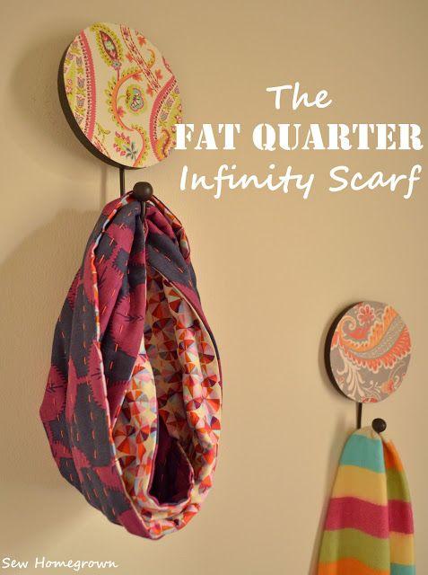 DIY fat quarter scarf