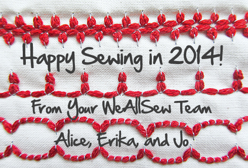 Happy Sewing in 2014 from WeAllSew.com