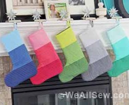 #bernina #how to make jingle all the way christmas stockings #vanessa christenson #V and Co #weallsew #how to make a christmas stocking #how to make ombre stripes #free sewing tutorial #free sewing project #simple sewing project #easy to sew #holiday decor