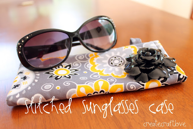 DIY stitched sunglass case