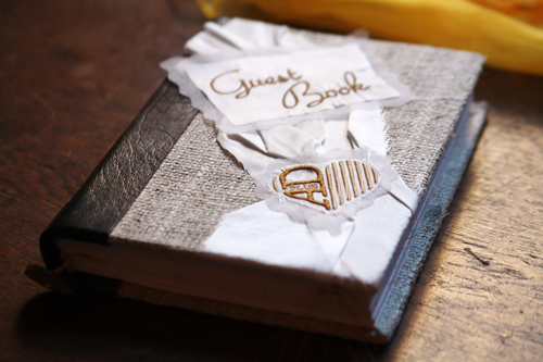 how to make a wedding guest book from scratch