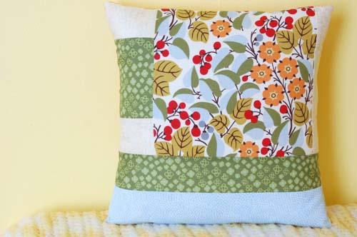 Geometric Quilt Block Pillow