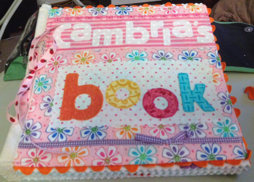 How to make a fabric book with zippered secret messages
