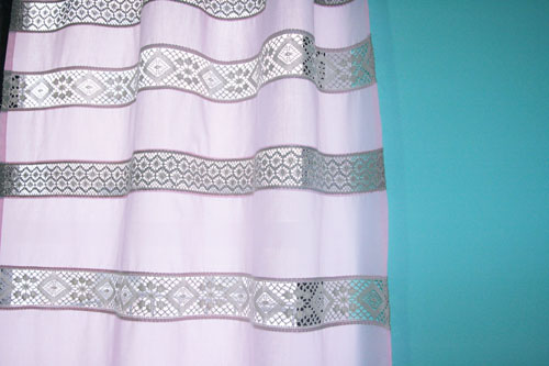 Curtain with Lace Inserts