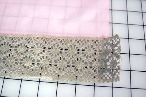 Curtain with Lace Inserts - step 3