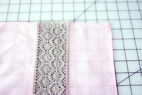 Curtain with Lace Inserts - step 6