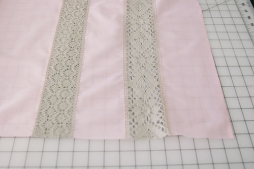 Curtain with Lace Inserts - step 7