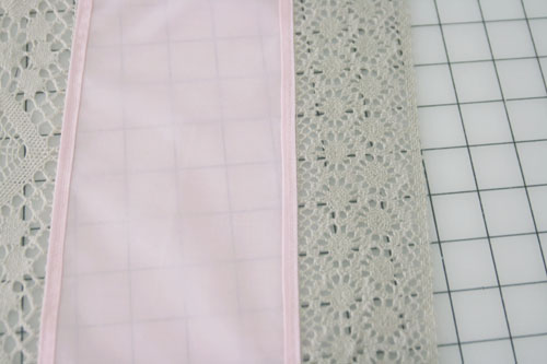 Curtain with Lace Inserts - step 8