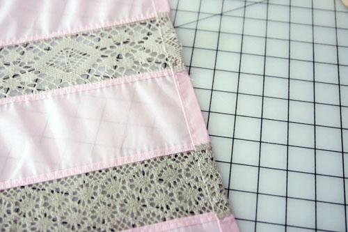 Curtain with Lace Inserts - step 9