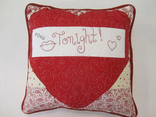 Lovey-Dovey Pillow - tonight
