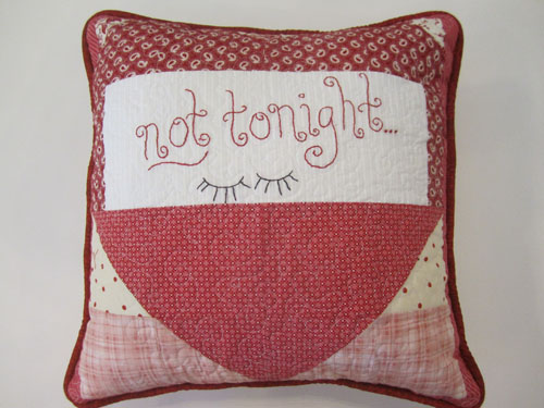 Lovey-Dovey Pillow - not tonight