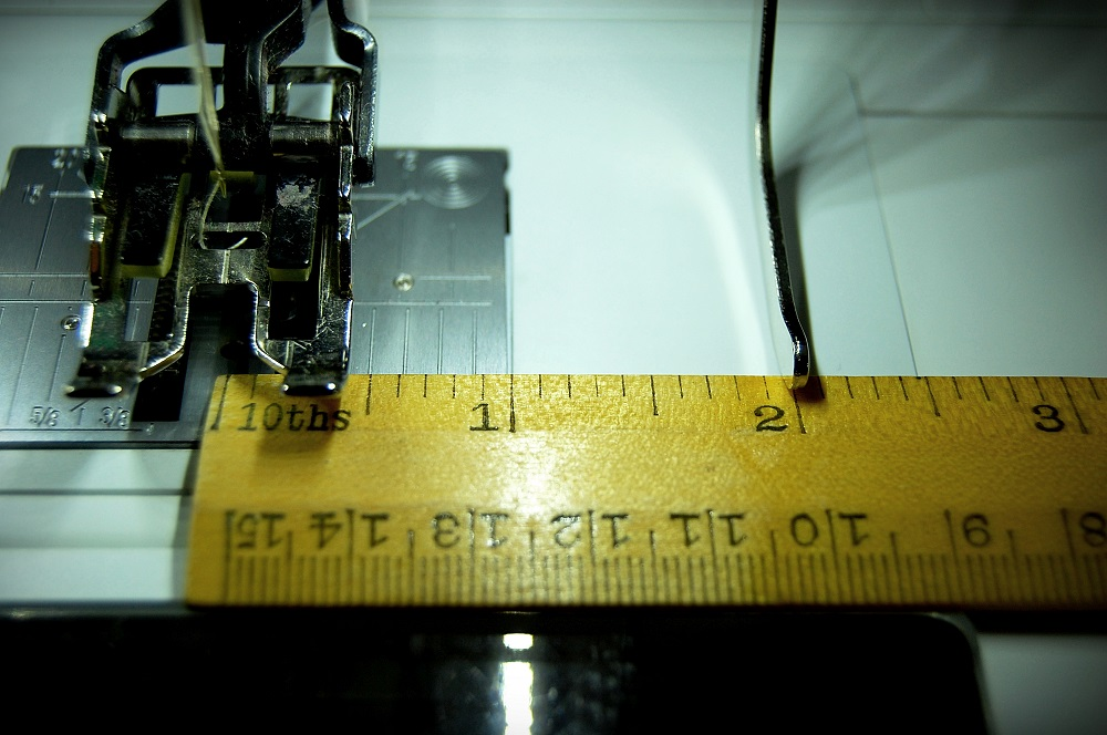 Set the spacing on the seam guide