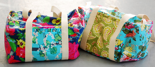 Ruffle Duffle Bag DIY