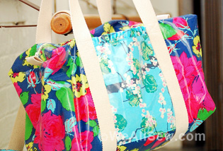 How to Make a Ruffle Duffle Bag | WeAllSew : quilted duffle bag pattern free - Adamdwight.com