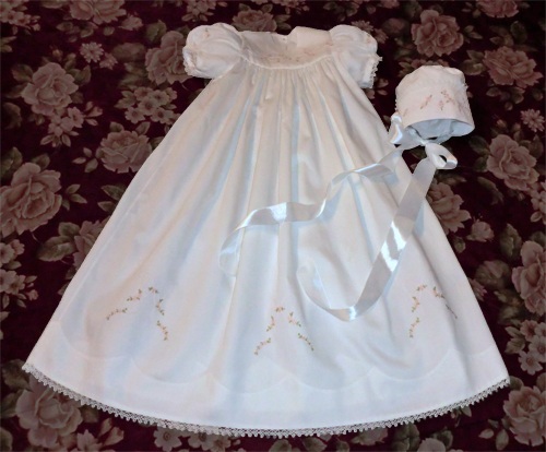 Christening Gown and Cap by Karen Ann Betts