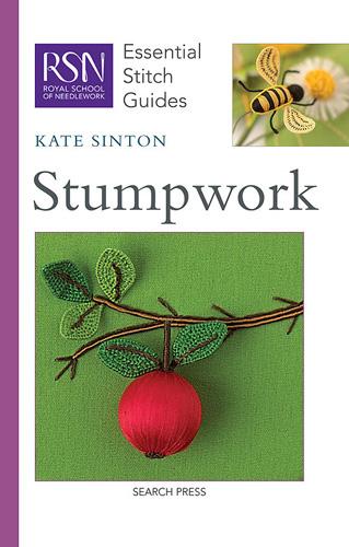 Stumpwork - 3D bee and flower