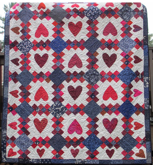 Heart Quilt - Lap Quilting with Georgia Bonesteel