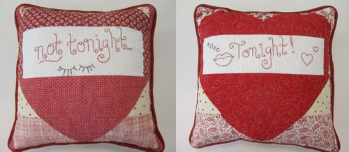Lovey-Dovey Pillows - front and back