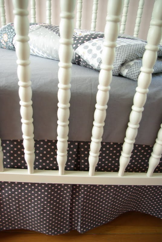 DIY Crib Sheet & Bedskirt